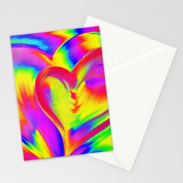 Double Heart beat Stationery Cards