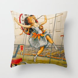 Vintage Sells Floto Circus Ad Throw Pillow