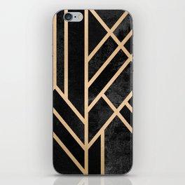 Art Deco Black iPhone Skin