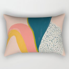 Colorful Abstract Textures Rectangular Pillow