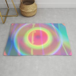 It is a colorful beautiful gradation. A gradation that is intricately intertwined.  Rug