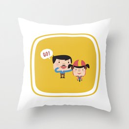Let's Go! (Yellow Tales Series) Throw Pillow