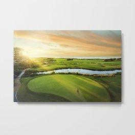 Golfing at the 'Gong Metal Print