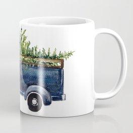 Blue Christmas Truck Coffee Mug