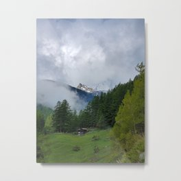Alpine Forest with Matterhorn in the Distance Metal Print