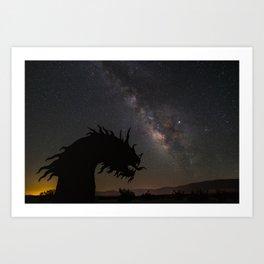 Milky Way over Borrego Springs Serpent Art Print