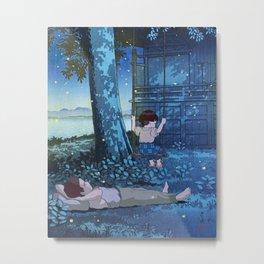 Grave of the Fireflies - japanese mashup Metal Print