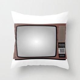Retro Vintage Old Television Grandcolor 777 Jugoslavija 1970s 1980s Neven Zubak Throw Pillow