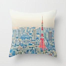 Tokyo tower Throw Pillow