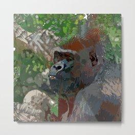 Crazy Paint - Gorilla Metal Print