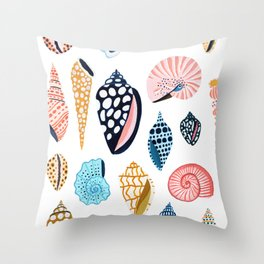 Under the Sea Shells Throw Pillow