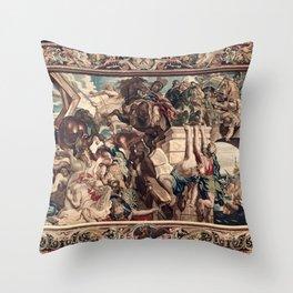 Triumph of Constantine over Maxentius at the Battle of the Milvian Bridge Throw Pillow