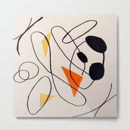 Abstract Forms I Metal Print