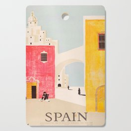 Spain Vintage Travel Poster Mid Century Minimalist Art Cutting Board