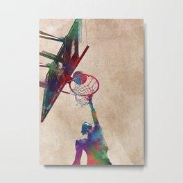 Basketball sport art #basketball Metal Print