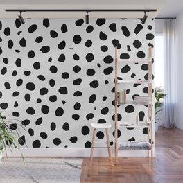 Black And White Cheetah Print Wall Mural