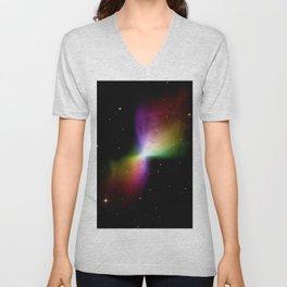rainboW Space Boomerang Nebula Unisex V-Neck