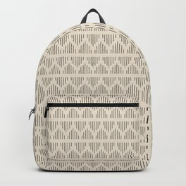 Modern Mudcloth 3, Black on Cream Backpack