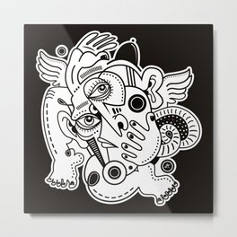 Angel With The Black Hat Metal Print