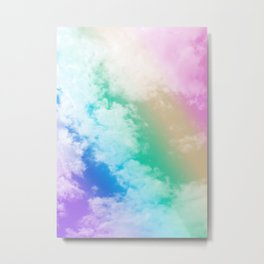 Unicorn Rainbow Clouds #1 #decor #art #society6 Metal Print