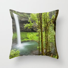 South Falls in the Silver Falls State Park, Oregon, USA Throw Pillow