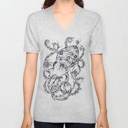 Calligraphy Octopus Unisex V-Neck