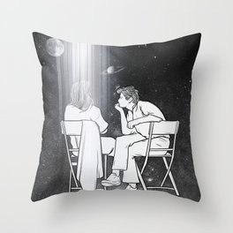 I met the whole universe. Throw Pillow