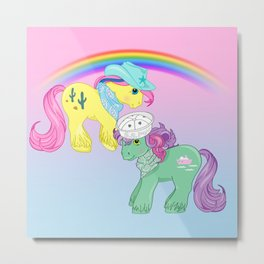 g1 my little pony big brothers Tex and Salty Metal Print