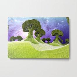 Broccoli Planet Metal Print