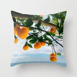 Amalfi Coast Oranges IV Throw Pillow