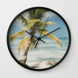 Palm Trees Punta Cana Wall Clock