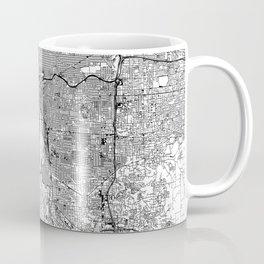 Portland White Map Kaffeebecher
