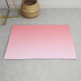 Pastel Ombre Rose Color Gradient Millennial Pink Lilac Cute Pattern Rug