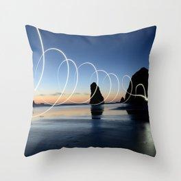 Ocean light rays Throw Pillow