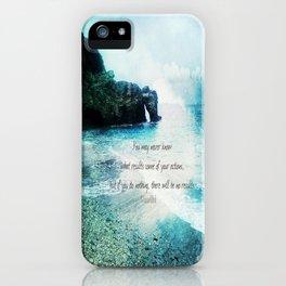 Inspirational Gandhi quote  iPhone Case