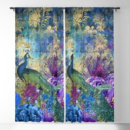 Feather Peacock 20 Blackout Curtain