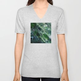Leaves in Morning Dew Unisex V-Neck