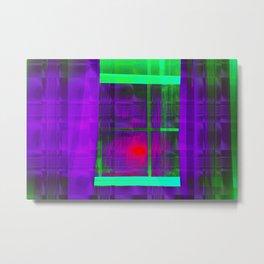 Window Gaze Metal Print