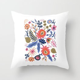 Scandinavian Folkart Throw Pillow