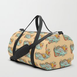 Star Stego   Retro Reptile Palette Duffle Bag