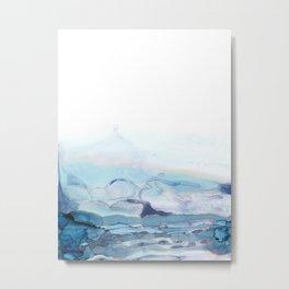 Indigo Abstract Painting   No.6 Metal Print