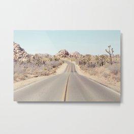 Joshua Tree Desert Road - Landscape Photography Metal Print