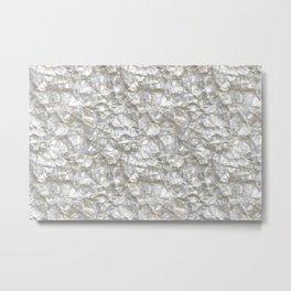 Cool Silver Aluminium Foil Texture Metal Print