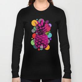Pineapple_on vintage paper02 Long Sleeve T-shirt