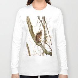 Little Squirrel On The Branch - Autumn Scene #decor #society6 #buyart Long Sleeve T-shirt
