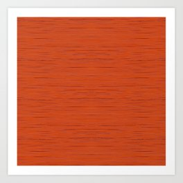 Meteor Stripes - Rust Orange Art Print