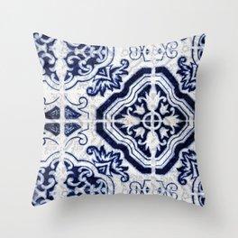 Azulejo VI - Portuguese hand painted tiles Throw Pillow