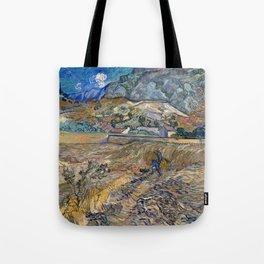 Vincent Van Gogh - Landscape at Saint Remy Tote Bag