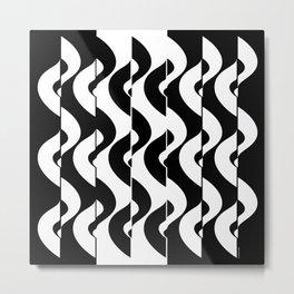 OpArt Waves Metal Print