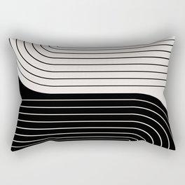 Two Tone Line Curvature VIII  Rectangular Pillow